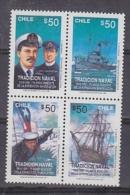 Chile 1991 Tradicion Naval / Antarctica 4v ** Mnh (20920) - Chili