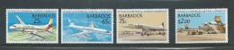 Barbados 1989 Commercial Aviation Anniversary Set 4 MNH Plane - Barbados (1966-...)