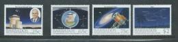 Barbados 1988 Space Satellite Observatory Set 4 MNH - Barbados (1966-...)