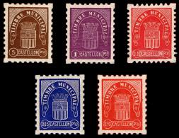 CASTELLON - ELR - ** S/C CASTELLON - 1939 TIMBRE MUNICIPAL 5 VALORES - 1931-Hoy: 2ª República - ... Juan Carlos I