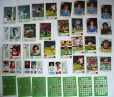 FOOT / Lot 35 Vignettes + Jeux à Gratter LA VACHE QUI RIT / Football Années 80, 90 - Vieux Papiers
