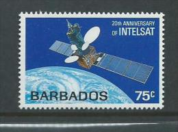Barbados 1985 Intelsat Satellite Single MNH - Barbados (1966-...)
