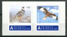 SVIZZERA / HELVETIA 2009** - Uccelli / Birds - 2 Val.autoadesivi In Block MNH Come Da Scansione. - Uccelli