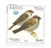 Estonia / Estland - House Sparrow Bird Stamp 2003 MNH - Estland