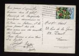 - ESPAGNE 1971/80 . AFFRANCHISSEMENT SIMPLE SUR CP DE 1973 POUR LA FRANCE . - 1931-Oggi: 2. Rep. - ... Juan Carlos I