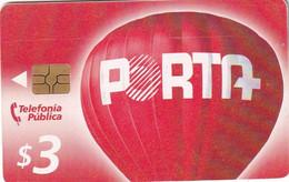 ECUADOR - Balloon, Porta Telecard $3, Chip GEM3.3, Used - Ecuador