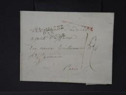 FRANCE- MARQUE D ENTREE D ALLEMAGNE PAR STRASBOURG   AVEC TEXTE SANS NOM DE DEPART POUR PARIS 1808  A VOIR   LOT P3151 - Poststempel (Briefe)
