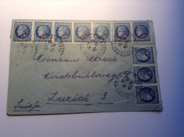 France, Lettre, Affr. CÉRES DE MAZELIN, Nr. 791, Cad TOURS 1947> Zürich, Suisse. AFFR. MULTIPLE RARE! (cover) - Marcophilie (Lettres)