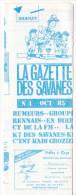 Rennes 35 France - Dépliant Journal De Radio Libre FM La GAZETTE DES SAVANNES - N° 4 Oct 1985