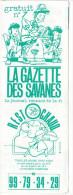 Rennes 35 France - Dépliant Journal De Radio Libre FM La GAZETTE DES SAVANNES - N° 7 Debut 1986