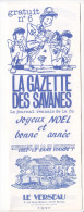 Rennes 35 France - Dépliant Journal De Radio Libre FM La GAZETTE DES SAVANNES - N° 6 Fin 1985
