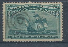USA 1893. Scott # 232. 3 C  Green. Columbian Exposition Issue. USED - 1847-99 Emissioni Generali