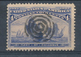 USA 1893. Scott # 233. 4 C  Ultramarine. Columbian Exposition Issue. USED - 1847-99 General Issues