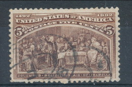 USA 1893. Scott # 234. 5 C  Chocolate. Columbian Exposition Issue. USED - 1847-99 General Issues