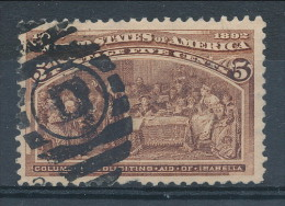 USA 1893. Scott # 234. 5 C  Chocolate. Columbian Exposition Issue. USED - Used Stamps