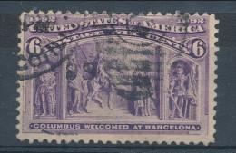 USA 1893. Scott # 235. 6 C  Purple. Columbian Exposition Issue. USED - 1847-99 Emissioni Generali