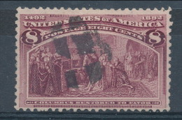 USA 1893. Scott # 236. 8 C  Magenta. Columbian Exposition Issue. USED - Used Stamps