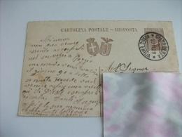 Cartolina Postale Carte Postale RISPOSTA ITALIA REGNO ANNULLO CIANO D'ENZA REGGIO EMILIA - Reggio Nell'Emilia