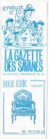 Rennes 35 France - Dépliant Journal De Radio Libre FM La GAZETTE DES SAVANNES - N° 10 Oct ? 1986