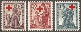 Liechtenstein,  Scott 2015 # 240-242,  Issued 1942,  Set Of 3,  MHR,  Cat $ 10.00  ,  Red Cross - Ungebraucht