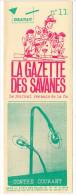 Rennes 35 France - Dépliant Journal De Radio Libre FM La GAZETTE DES SAVANNES - N° 11 Dec ? 1986