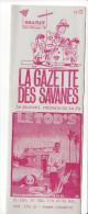 Rennes 35 France - Dépliant Journal De Radio Libre FM La GAZETTE DES SAVANNES - N° 12 Mars 87