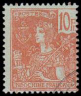 (S3345) INDOCHINE - YVERT N� 40, 10F GRASSET- OBLITERE - COTE: 200 EUROS