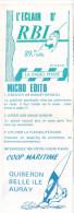 Belle Ile En Mer 56 France - Dépliant Journal De Radio Libre FM L ´Eclair D´RBI -  1986, Yves Leroy -radio Phare