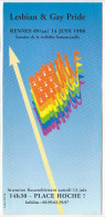 Rennes 35 France -lesbian & Gay Pride 1998 -programme -drapeau Breton -homosexualite Defile Gai