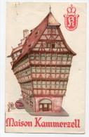 Strasbourg Maison Kammerzell Menu Du 15 Juin 1958 Illustrateur - Publicités