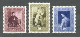 1952 LIECHTENSTEIN PAINTINGS MICHEL: 306-308 MNH ** - Liechtenstein