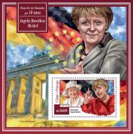 st15104b S.Tome Principe 2015 Angela Dorothea Merkel Chancellor of Germany s/s Flag Elizabeth II
