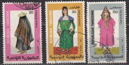 Tunisia, 1985 -  Folk Costumes - Nr.926/928 Usati° - Tunisia (1956-...)