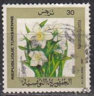 Tunisia, 1987 -  30m Narcissus Tazetta - Nr.929 Usato° - Tunisia (1956-...)