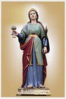 Gioiosa Jonica RC - Santino Cartolina SANTA LUCIA VERGINE E MARTIRE - PERFETTO H74 - Religion & Esotericism