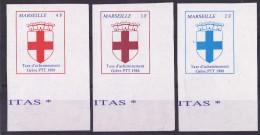 Marseille 1988 - 3 Valeurs - Superbe - Grève