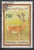 Tunisia, 1990 -  150m Cervus Elaphus Barbarus - Nr.985 Usato° - Tunisia (1956-...)