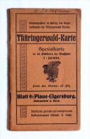 THURINGERWALD - KARTE   BLATT 9 : PLAUE - ELGERSBURG - Sin Clasificación