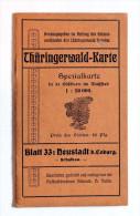 THURINGERWALD - KARTE   BLATT 33 : NEUSTADT Bei COBURG - Mapas
