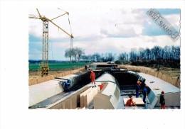 21 - FAUVERNEY - Travaux Autoroute A31 Mulhouse Bordeaux /Til-Chatel Gevrey  Construction Pont R.N. 5  Grue Ouvriers - France
