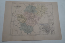 @ ANCIENNE CARTE ETAT MAJOR DEPARTEMENT 16 CHARENTE AVANT 1912 ANGOULEME - Cartes
