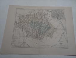 @ ANCIENNE CARTE ETAT MAJOR DEPARTEMENT 32  LE GERS AVANT 1912 AUCH - Mapas