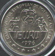 ROMANIA - UNC 10 LEI COIN Issued 1996 EUROPEAN FOOTBALL CHAMPIONSHIP ENGLAND KM134 - Romania