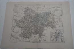 @ ANCIENNE CARTE ETAT MAJOR DEPARTEMENT 71 SAONE ET LOIRE AVANT 1912 MACON - Mapas