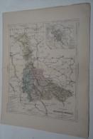 @ ANCIENNE CARTE ETAT MAJOR DEPARTEMENT 54 MEURTHE ET MOSELLE  AVANT 1912 PLAN DE NANCY ET ENVIRONS - Cartes Géographiques