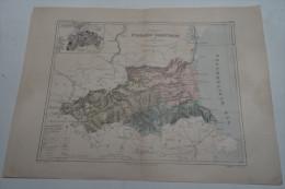 @ ANCIENNE CARTE ETAT MAJOR DEPARTEMENT 66 PYRENEES ORIENTALES  AVANT 1912 PLAN DE PERPIGNAN - Cartes Géographiques