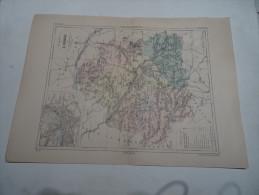 @ ANCIENNE CARTE ETAT MAJOR DEPARTEMENT 36 INDRE  AVANT 1912 PLAN DE CHATEAUROUX - Geographical Maps