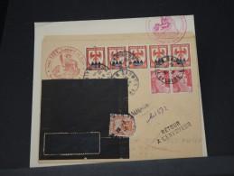 FRANCE -LETTRE DE SAUMUR POUR ALGER PAR AVION GREVE DES PTT 1946 ET TAXEE A VOIR DESCRIPTION COMPLETE  RARE   LOT P3173 - Marcophilie (Lettres)