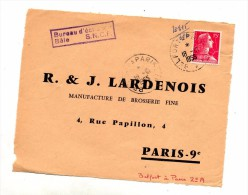 Devant De Lettre Cachet Ambulant Belfort à Paris + Cachet Echange Sncf Bale - Marcophilie (Lettres)