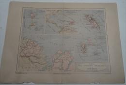 @ ANCIENNE CARTE ATLAS DES COLONIES FRANCAISES EN AMERIQUE GUADELOUPE LA MARTINIQUE StPIERRE  MIQUELON LA GUYANE - Geographical Maps